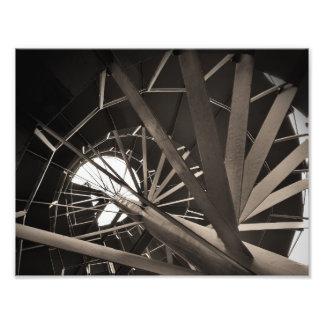 Impression Photo Art en spirale d'escaliers
