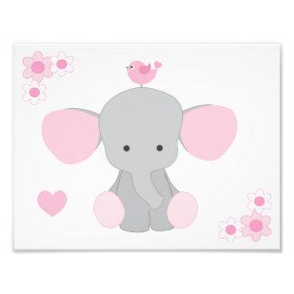 Impression Photo Art gris gris rose de mur de bébé de crèche