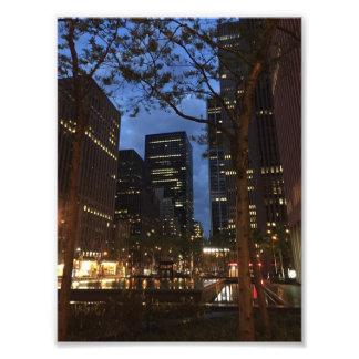 Impression Photo Aube aux lumières centrales d'architecture de