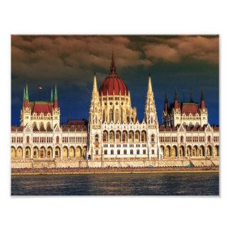 Impression Photo Bâtiment hongrois du Parlement à Budapest, Hongrie
