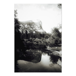 Impression Photo Beau lac Yosemite | mirror noir et blanc