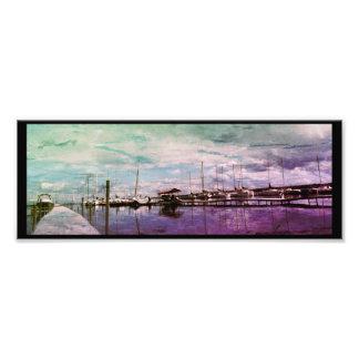 Impression Photo Beau paysage de dock de bateau