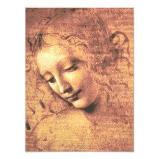 Impression Photo Belle femme par Leonardo da Vinci