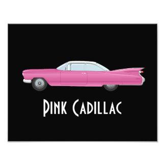Impression Photo Cadillac rose vintage avec l'arrière - plan noir