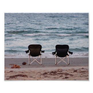 Impression Photo Chaises sur la plage 10x8
