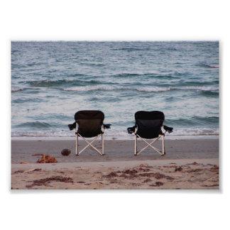 Impression Photo Chaises sur la plage 7x5