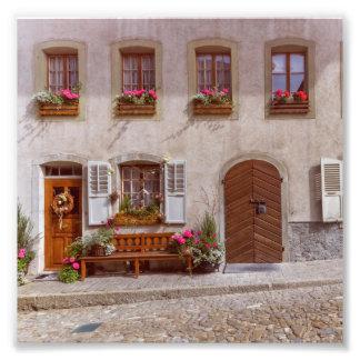 Impression Photo Chambre dans le village de gruyère, Suisse