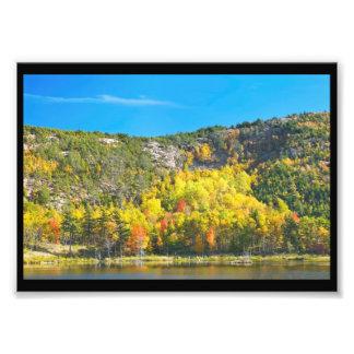Impression Photo Chute sur le parc national Maine d'Acadia d'étang