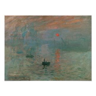 Impression Photo Claude Monet - impression, lever de soleil