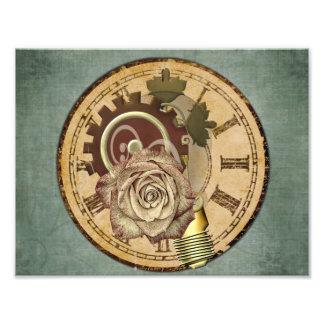 Impression Photo Collage vintage d'horloge