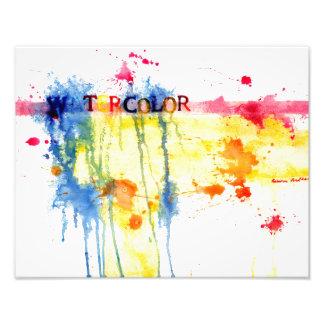 Impression Photo Copie abstraite d'aquarelle