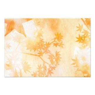 Impression Photo Copie abstraite de feuille d'érable d'automne