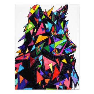 Impression Photo Copie abstraite de vue de côté de loup