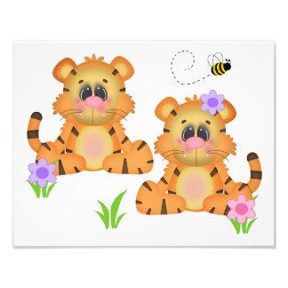 Impression Photo Copie animale d'art de mur de crèche de jungle de