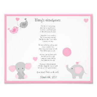 Impression Photo Copie d'art de mur de Handprints de bébé