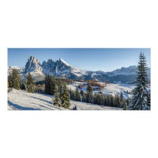 Impression Photo Copie de paysage d'hiver d'Alpe di Siusi