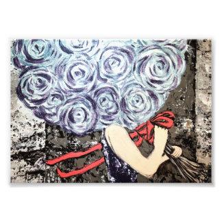 Impression Photo Copie florale abstraite d'illustration