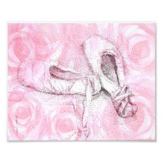 Impression Photo Copie rose d'art de chaussures d'orteil