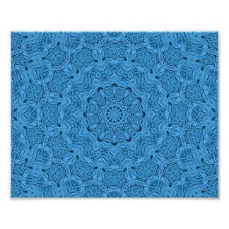 Impression Photo Copies colorées vintages bleues décoratives de