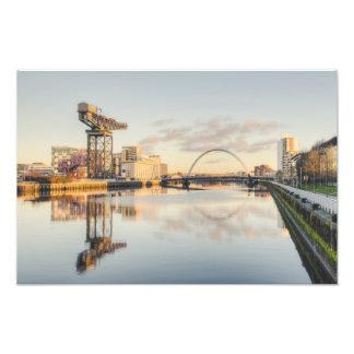 Impression Photo Coucher du soleil de Clyde de rivière