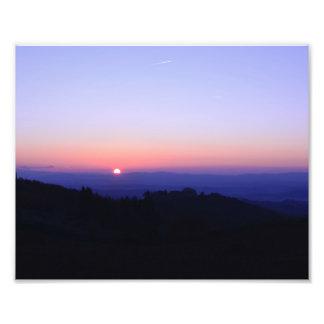 Impression Photo Coucher du soleil toscan