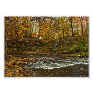 Impression Photo Crique rocheuse de fourchette, automne, Gahanna,