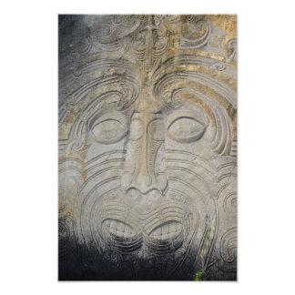 Impression Photo Découpages maoris de roche au lac Taupo