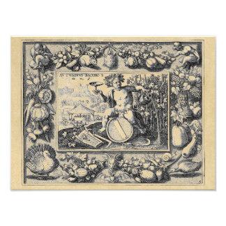 Impression Photo Dieu de Bacchus de vin
