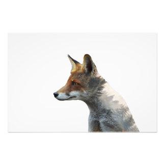 Impression Photo Double exposition de Fox