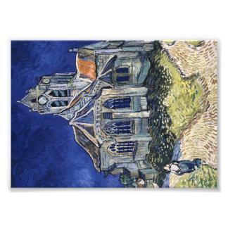 Impression Photo Église Auvers-sur-Oise peignant Vincent van Gogh