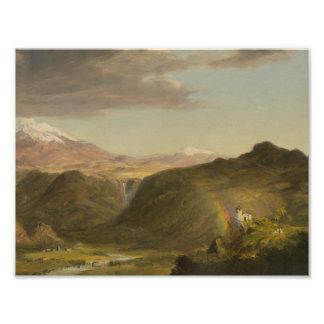 Impression Photo Église de Frederic Edwin - paysage sud-américain