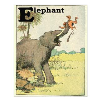 Impression Photo Éléphant et braconnier dans l'alphabet de jungle