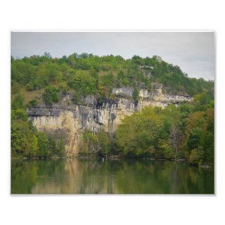 Impression Photo Falaise de lac