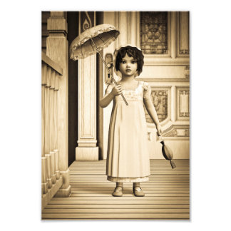 Impression Photo Fille vintage