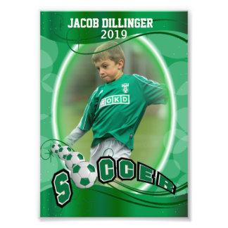 Impression Photo Footballeur - modèle décoratif d'impression de