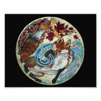 Impression Photo Fox en spirale d'automne