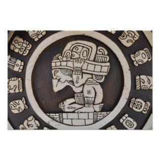 Impression Photo Guerrier maya antique