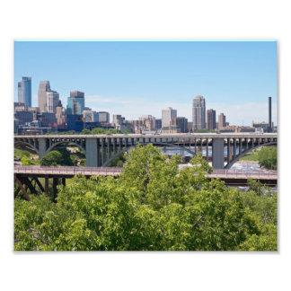 Impression Photo Horizon et ponts de Minneapolis