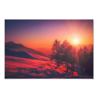 Impression Photo image de lever de soleil de l'Italie