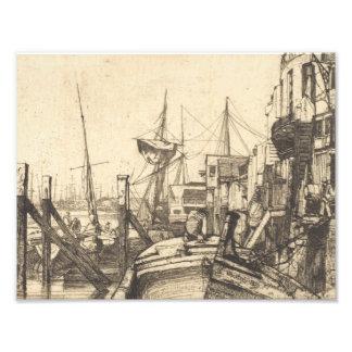 Impression Photo James Abbott McNeill Whistler - Limehouse