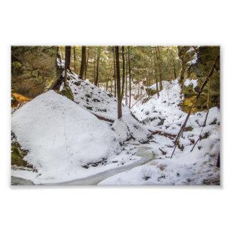 Impression Photo La cavité de Conkle en hiver