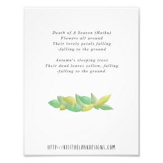 Impression Photo La mort d'une saison - poésie 8,5 x 11 imprimable