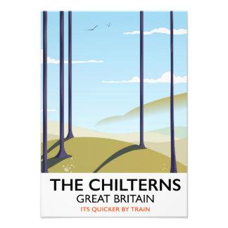 Impression Photo L'affiche de voyage de Chilterns Grande-Bretagne