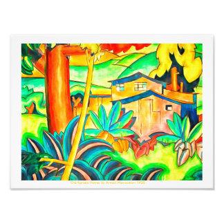 Impression Photo Le paradis tropical de l'île colore l'art vintage