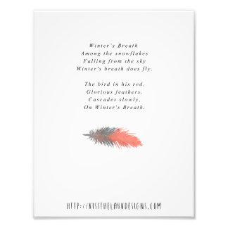Impression Photo Le souffle de l'hiver - poésie 8,5 x 11 imprimable