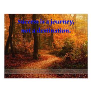 Impression Photo Le succès est un voyage