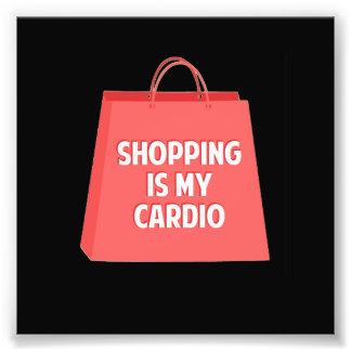 Impression Photo Les achats sont mon cardio-