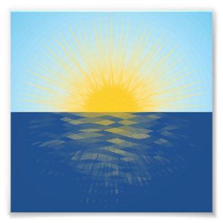 Impression Photo Lever de soleil au-dessus des nouveaux débuts