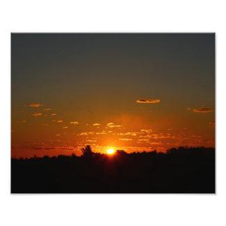 Impression Photo Lever de soleil de début de la matinée de plan