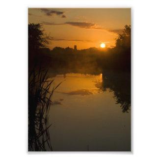 Impression Photo Lever de soleil par un lac
